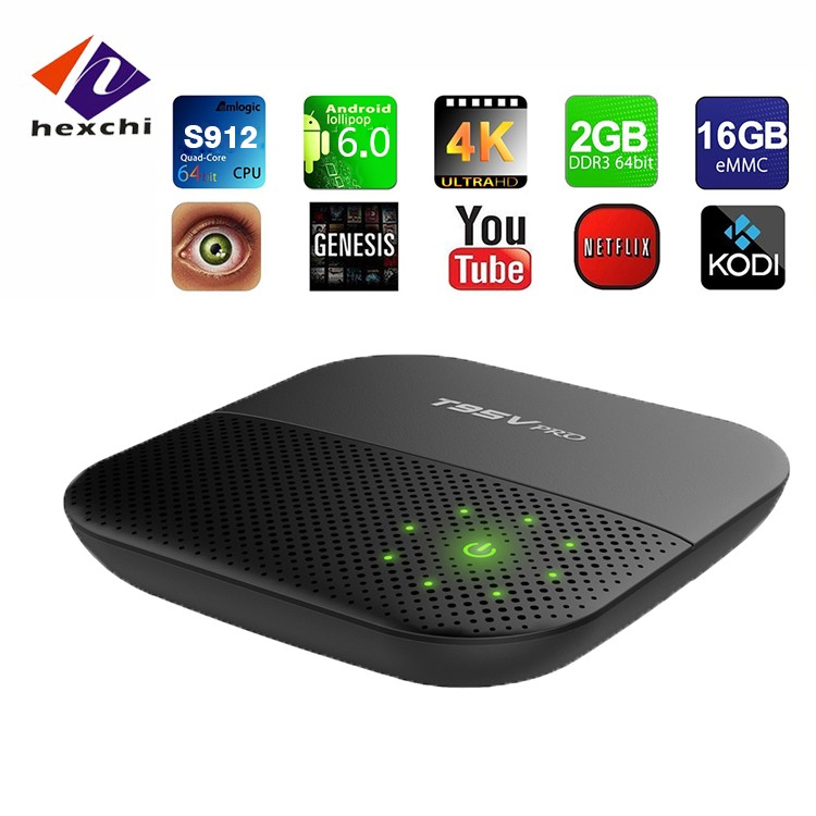 dvb s2 android tv box T95V pro S912 Octa Core Processor KODI 16.1 Pre-Loaded amlogic s912 android 6.0 T95V PRO
