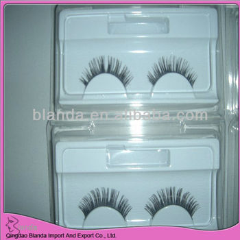 natural color top quality strip eyelashes