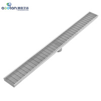 304 stainless steel 2019 with CE and SGS 700mm shower Drain 304 Stainless Steel Bathroom Long Linear Floor Drain