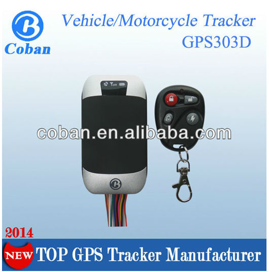 New satellite tracking GPS vehicle tracker GPS303-D with engine control , ACC/motion alerts