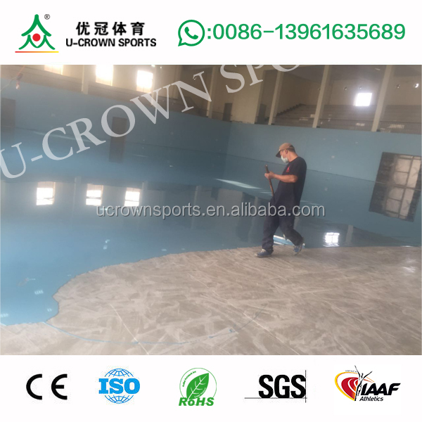 PU indoor basketball court price / used sport court flooring / floor for basketball court