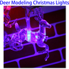 4m 20pcs LED Bulbs RGB Waterproof Decoration Christmas Light in Deer Shape