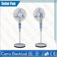 China supplier 12v 16'' dc solar battery rechargeable pedestal fan