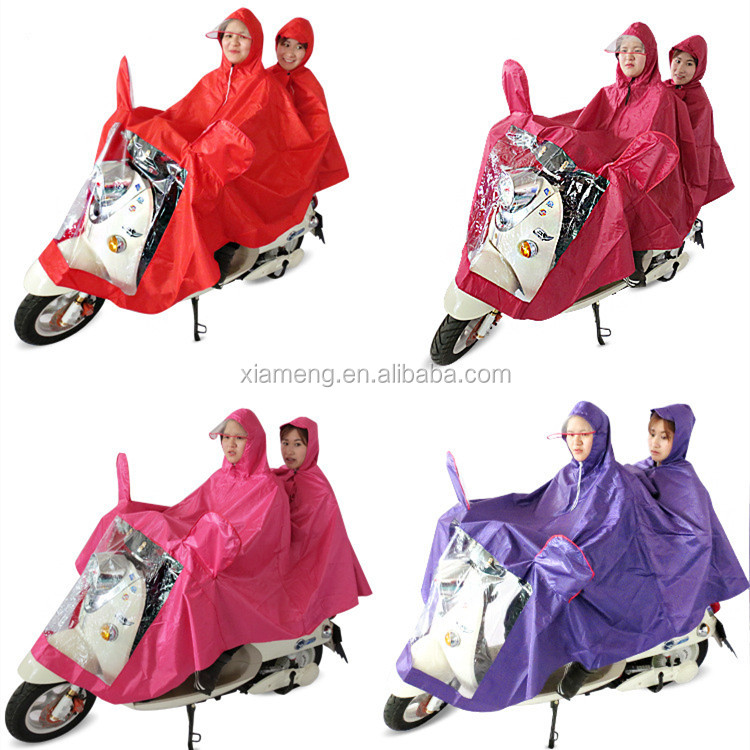 High quality OEM service motorcycle raincoat for 2 people,raincoat for motorcycle riders
