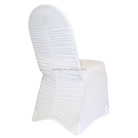 Lycra strech ruffle wedding fancy chair covers and sashes for sale factory