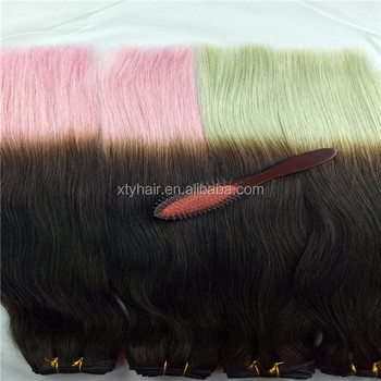 hot sale Grade 7A best quality ombre human hair colored pink braiding hair weaving hair extensions