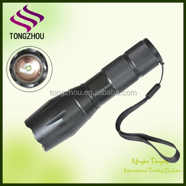 900 High Lumens Ultra Bright CREE XML T6 LED Tactical Flashlight/Zoomable Adjustable Focus Torch with 3 Light Modes