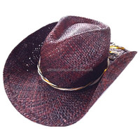New Arrival Sailor Label Paper Straw Cowboy Hats