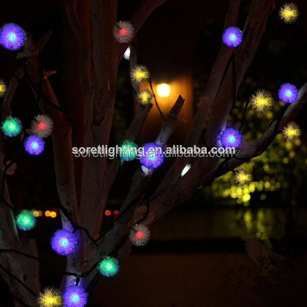 led pendant string light/chuzzle led string light/popular christmas decorations in china