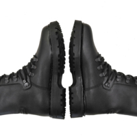 Military Boots - Black leather