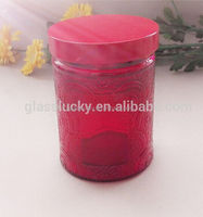Hot sale glass bottle cosmetic morocco with metal lid and glass jar cosmetic with bath salt