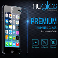 Wholesale Mobile Phone Accessories Nuglas Tempered Glass Screen Guard Protective Film for iPhone 5