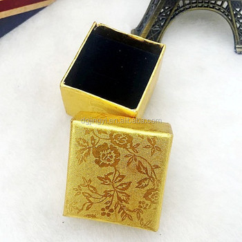 Luxury shiny gold special paper jewelry locket packaging box for gift