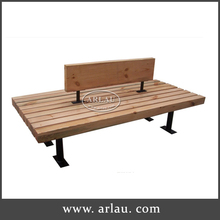 Outdoor Garden Double Backrest Wooden Benches