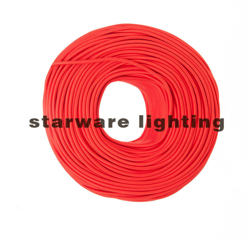 2017 hot sale Red color Textile Cable Fabric Wire Cotton Braided Electrical Wire