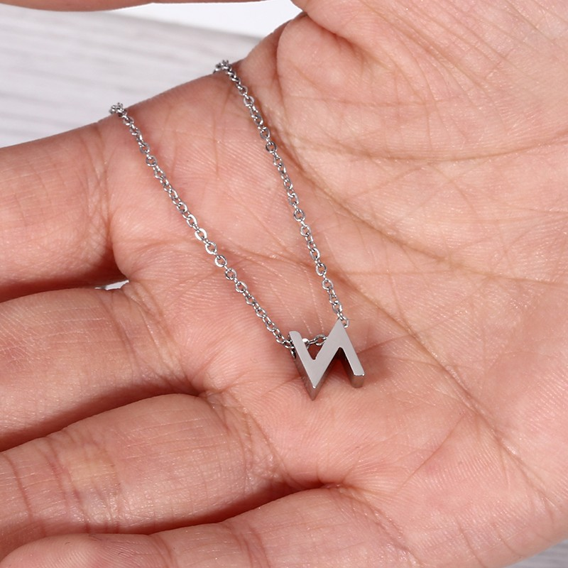 Simple Design Letter Pendant For 26 alphabets,English Letter Pendant M Design For Women