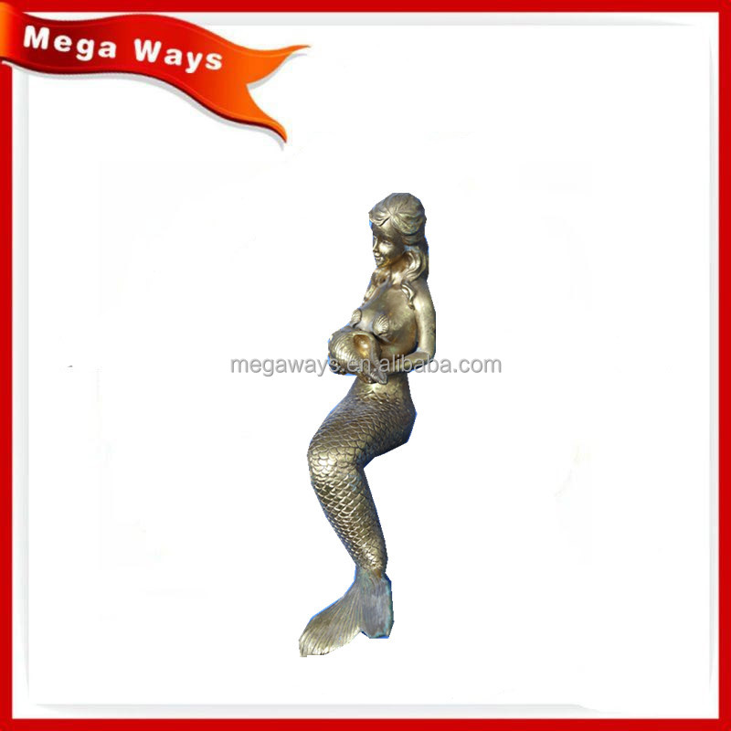 Gold resin home table decoration Mermaid figurine