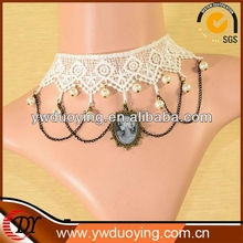 White Gothic Vintage Lolita False Collar Lace Necklace Costume Accessory