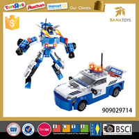 Educational transformer car plastic building blocks toys
