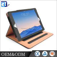 Hot sale free sample fancy book style shockproof stand function leather tablet case for ipad air
