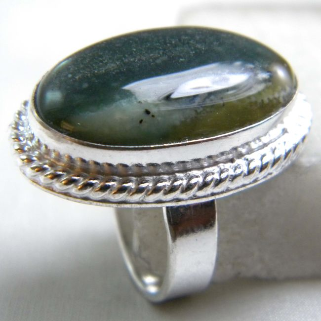 Ocean Jasper Ring plated 925 Sterling Silver 10-15 Gms