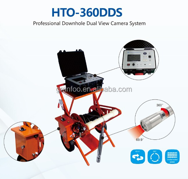 High Quality 360 Degree Dual View Well Logging Video Camera for Underwater Surveillance and Inspection