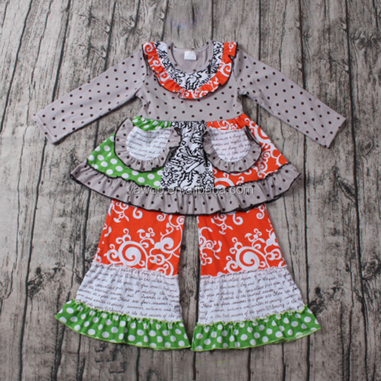 High quality kids clothing manufacturing companies outfit ready made garments sets baby clothes online