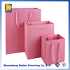 Handle Taking Customized Cute Pink Paper Apparel Packaging Bags