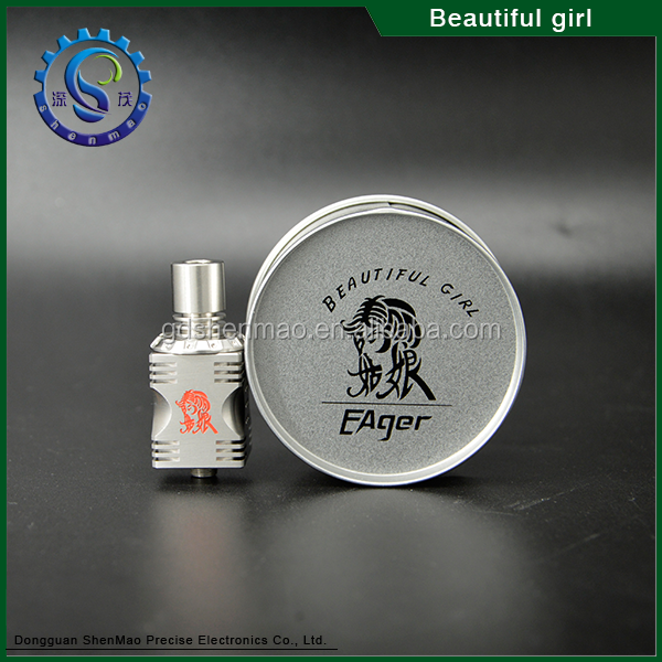 2015 New products beautiful girl rda, el diablo box mod, American muscle Mod
