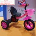 OEM steel material plastic 3 wheel baby tricycle with music