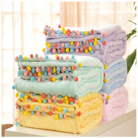 New type top sale 100%polyester super soft flannel fleece blanket