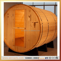 2/4/6 People Capacity Outdoor Sauna Room and Solid Wood Main Material Good Health Sauna House