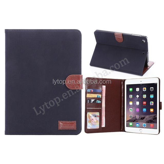 Retro Vintage Wallet Slots Leather Cover For iPad Mini 3