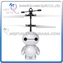 Mini Qute RC remote control flying Helicopter big hero 6 baymax cartoon model plastic doll kids Electronic toys NO.CK810A-1