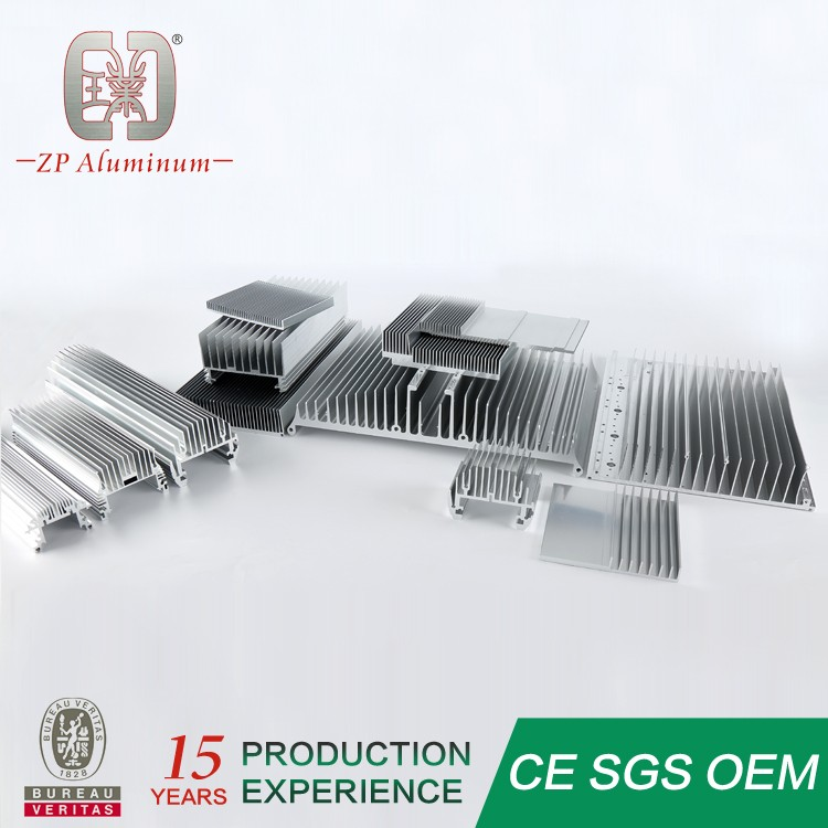 Guangzhou aluminum extrusion LED heat sink anodized