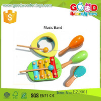 2015 Hot New Product 5-Piece Set Wooden Musical Instruments for Children