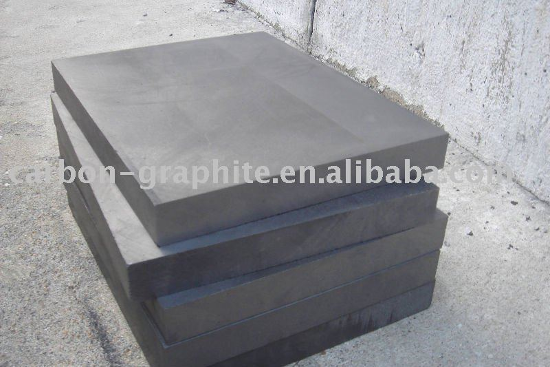 molded extruded graphite plate