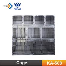 KA-508 Customized Professional Stainless Steel Dog Cages Modular Pet Kennels Wholesale