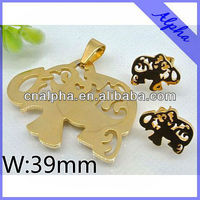 fashion imitation Refined jewelry sets stainless steel import jewelry from china
