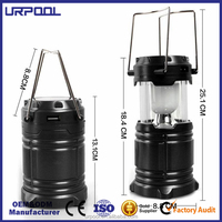 LED Solar Charger Lantern Emergency Camping Lanterns Waterproof Rechargeable Hand Crank with 1800mAh Battery for outdoor