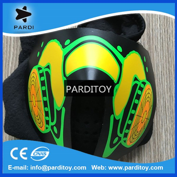 DJ sound activited el pad mask for party and event
