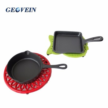 Heat resistant square cooking trivet with powder coating from China