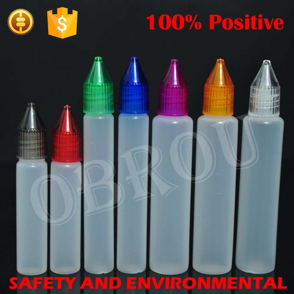 Wholesale Unicorn bottle PE e-liquid 50ml 30ml 20ML 15ml 10ml plastic pen shape dropper bottle custom unicorn bottle