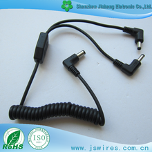 Spring Sprial Power Extension Coiled DC Cable