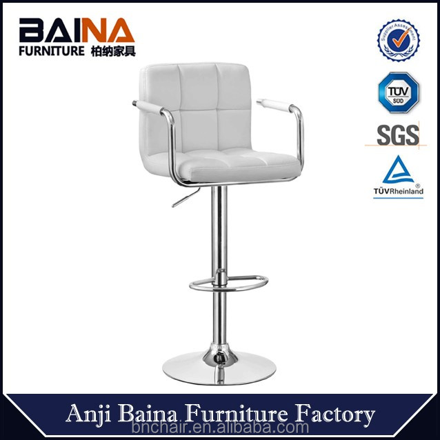 PU leather swivel commercial bar chair with armrest bar stool supplier BN-1013