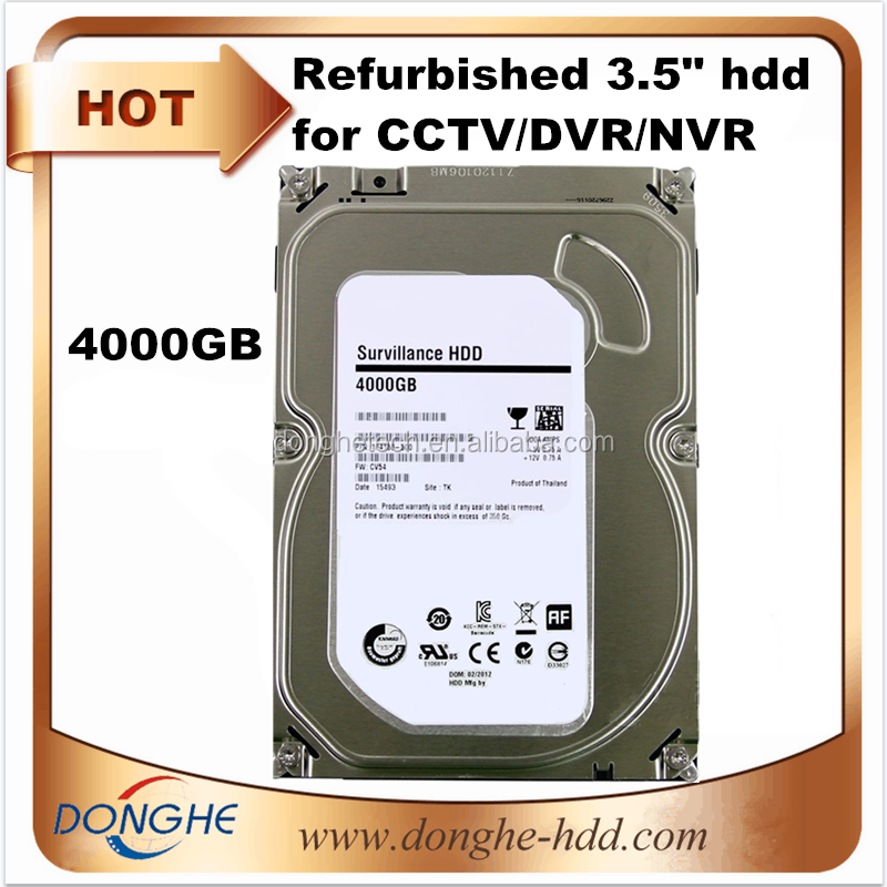 High quality branded second hand hard disk 4TB 6GB/s 7200rpm 3.5 sata refurbished HDD for DVR