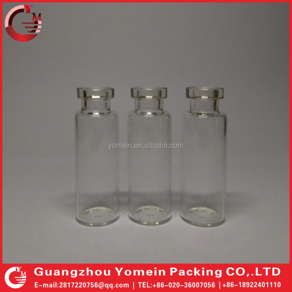 5ml 10ml Clear Glass Vial with Flip Top Glass Vial for Steroids Aluminum Cap Wholesale