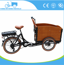high quality electric aluminium frame tricycle cargo bike with rain cover