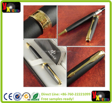 METAL PARKER PEN Free shipping with velvet pouch as gift Gold Silver Ballpoint pen pen for Business Writing Office