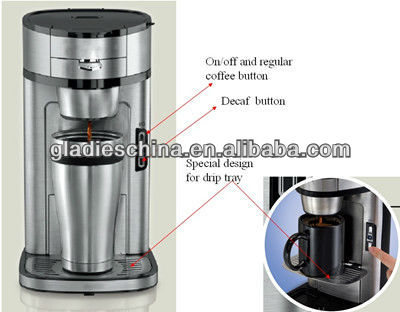 1200W-1400W S/S automatical 0.4L Drip Coffee Maker with 3 cups with full European approval